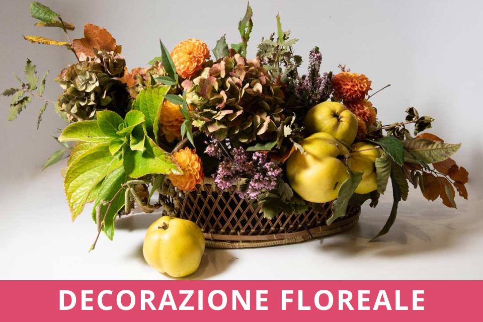 Decorazione Floreale - Atelier - Autunno - Ottobre 2021